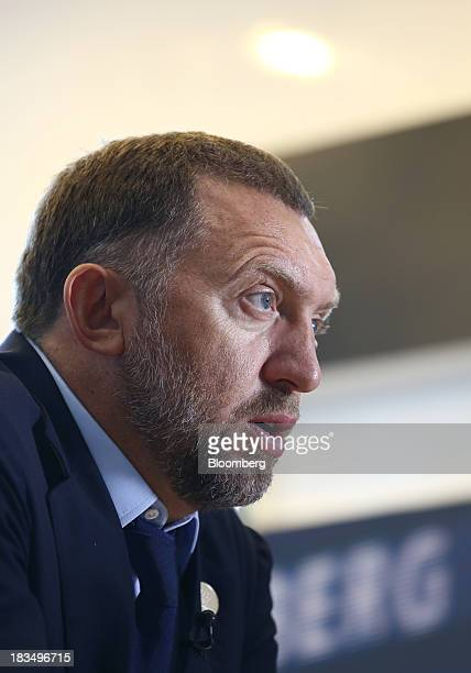 Billionaire Oleg Deripaska chief executive officer of United Co Rusal speaks during an interview at the AsiaPacific Economic Cooperation CEO Summit...