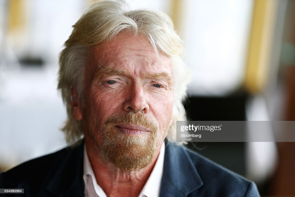 Billionaire <a gi-track='captionPersonalityLinkClicked' href=/galleries/search?phrase=Richard+Branson&family=editorial&specificpeople=220198 ng-click='$event.stopPropagation()'>Richard Branson</a>, founder of Virgin Group Ltd., listens during a Bloomberg Television interview in Sydney, Australia, on Thursday, May 26, 2016. Air New Zealand Ltd.'s stake in Virgin Australia Holdings Ltd. has attracted several potential buyers and talks are under way about a possible deal, said Branson. Photographer: Brendon Thorne/Bloomberg via Getty Images