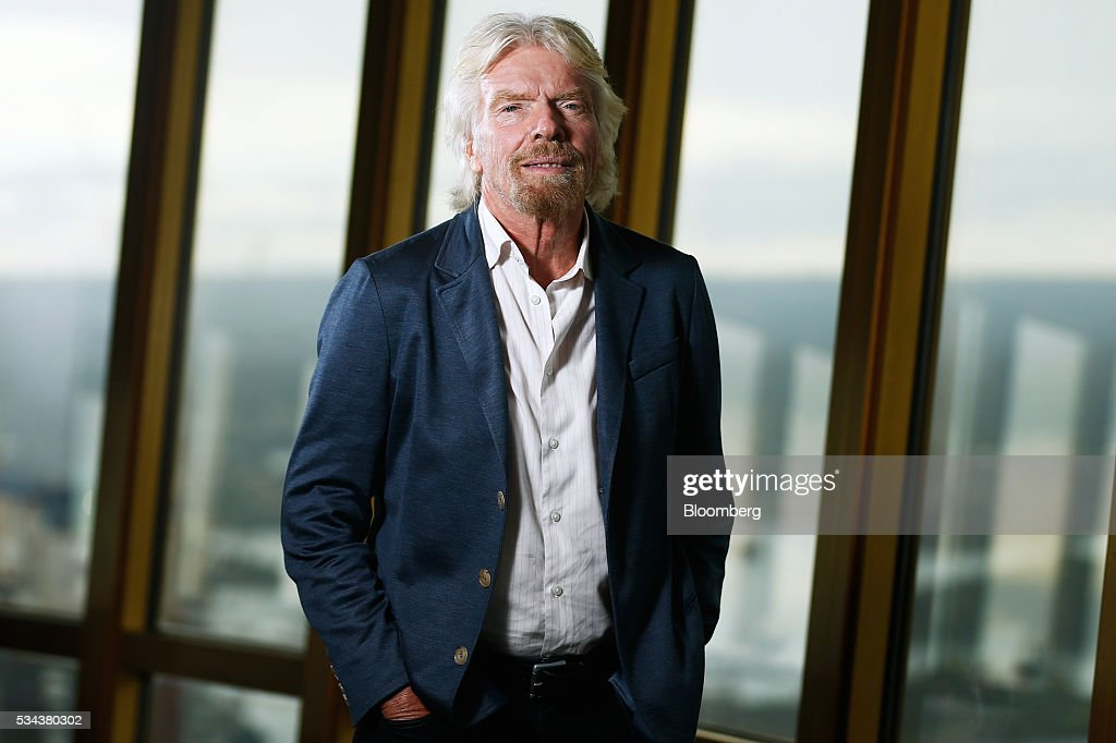 Billionaire Richard Branson, founder of Virgin Group Ltd., poses for a photograph following a Bloomberg Television interview in Sydney, Australia, on Thursday, May 26, 2016. Air New Zealand Ltd.'s stake in Virgin Australia Holdings Ltd. has attracted several potential buyers and talks are under way about a possible deal, said Branson. Photographer: Brendon Thorne/Bloomberg via Getty Images