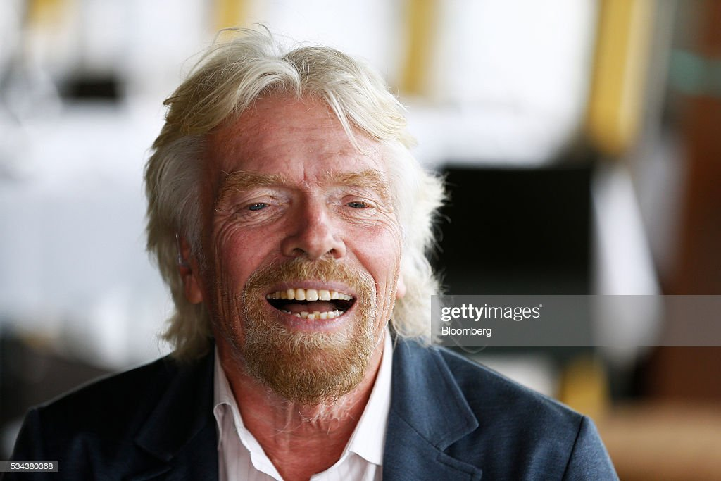 Billionaire <a gi-track='captionPersonalityLinkClicked' href=/galleries/search?phrase=Richard+Branson&family=editorial&specificpeople=220198 ng-click='$event.stopPropagation()'>Richard Branson</a>, founder of Virgin Group Ltd., speaks during a Bloomberg Television interview in Sydney, Australia, on Thursday, May 26, 2016. Air New Zealand Ltd.'s stake in Virgin Australia Holdings Ltd. has attracted several potential buyers and talks are under way about a possible deal, said Branson. Photographer: Brendon Thorne/Bloomberg via Getty Images
