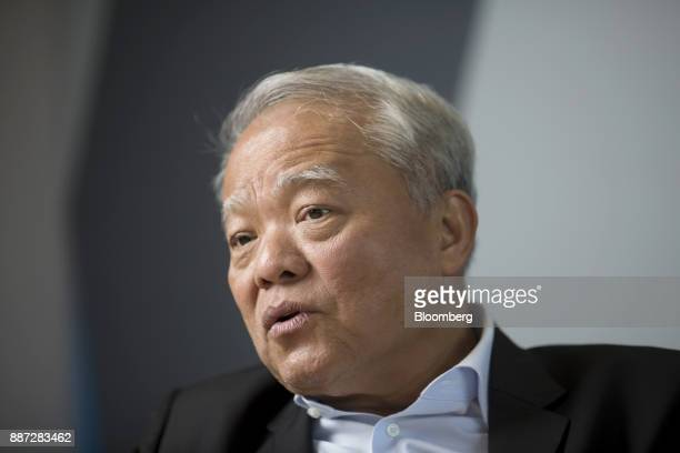 Billionaire Sathien Setthasit chairman of Carabao Group Pcl poses for a photograph after an interview in Bangkok Thailand on Wednesday Nov 29 2017...