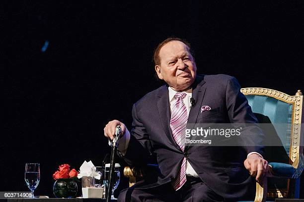Billionaire Sheldon Adelson chairman and chief executive officer of Las Vegas Sands Corp attends a news conference at the company's Parisian Macao...