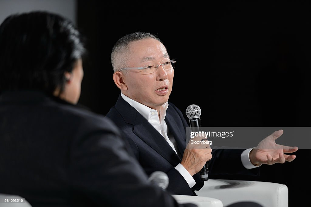 Billionaire Tadashi Yanai, chairman and chief executive officer of Fast Retailing Co., speaks during a preview of the Uniqlo 2016 Fall-Winter lineup in Tokyo, Japan, on Wednesday, May 25, 2016. Analysts and investors will be watching as Uniqlo unveils the new season's LifeWear line in Tokyo to see whether Yanai will come through with his pledge to offer the 'lowest possible prices.' Photographer: Akio Kon/Bloomberg via Getty Images