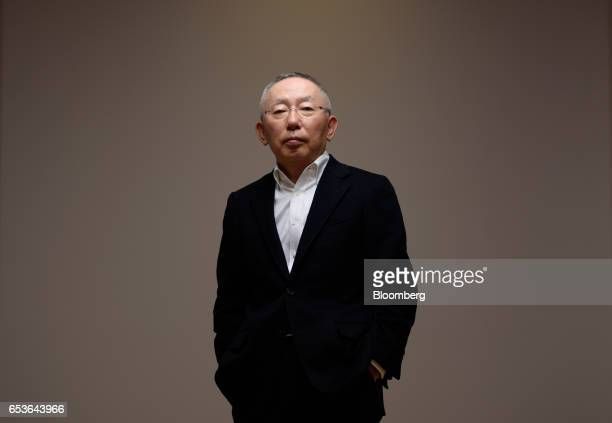 Billionaire Tadashi Yanai chairman and chief executive officer of Fast Retailing Co poses for a photograph in Tokyo Japan on Friday March 10 2017...
