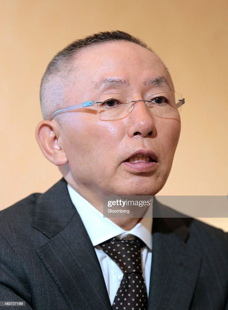 Billionaire <a gi-track='captionPersonalityLinkClicked' href=/galleries/search?phrase=Tadashi+Yanai&family=editorial&specificpeople=558842 ng-click='$event.stopPropagation()'>Tadashi Yanai</a>, chairman, president and chief executive officer of Fast Retailing Co., speaks during a news conference in Tokyo, Japan, on Thursday, April 10, 2014. Fast Retailing, Asia's biggest clothing retailer, cut its forecast for annual profit as costs rose and demand weakened for the company's casual wear in Japan. Photographer: Yuriko Nakao/Bloomberg via Getty Images