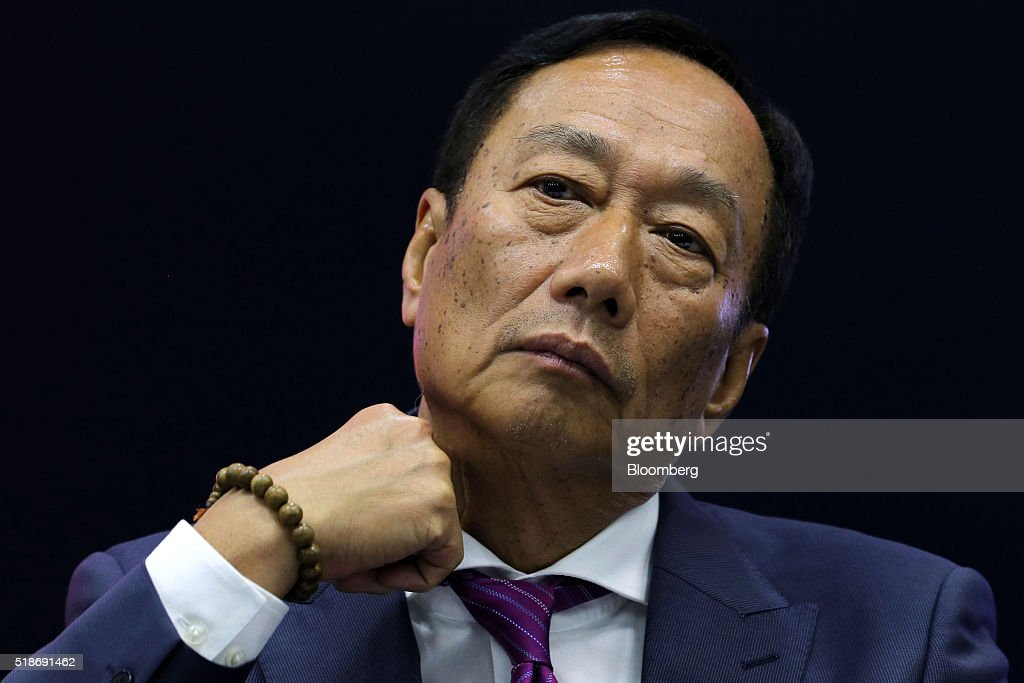 Foxconn Technology Group Chairman And Billionaire Terry Gou And Sharp Corp. President Kozo Takahashi Attend News Conference