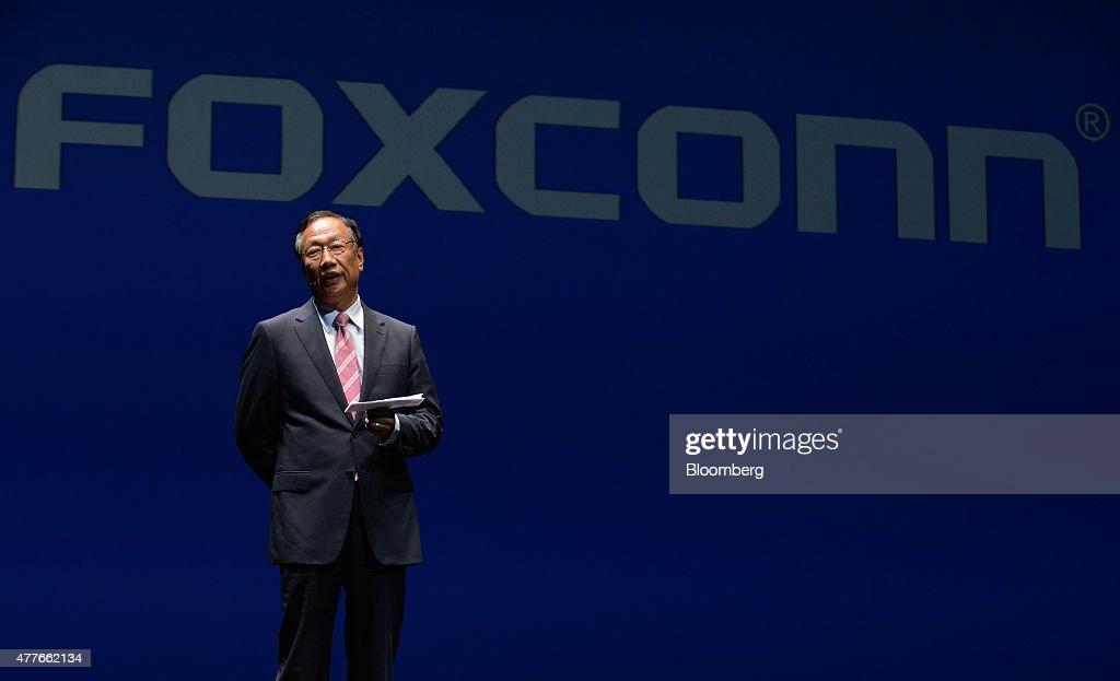 SoftBank CEO Masayoshi Son Attends Pepper Robot Media Event