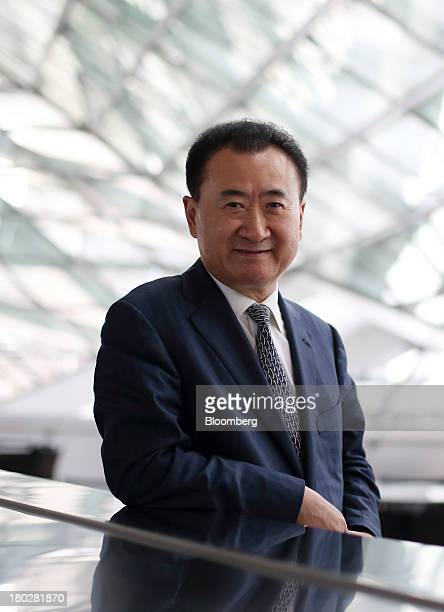Billionaire Wang Jianlin chairman and president of Dalian Wanda Group poses for a portrait at the World Economic Forum Annual Meeting Of The New...
