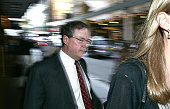 BHP Billiton group president Philip Aiken leaves the Cole Inquiry after giving evidence9 March 2006 AFR Picture by ROB HOMER