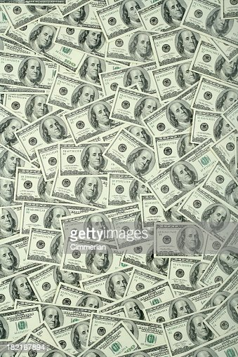 $100 bills background