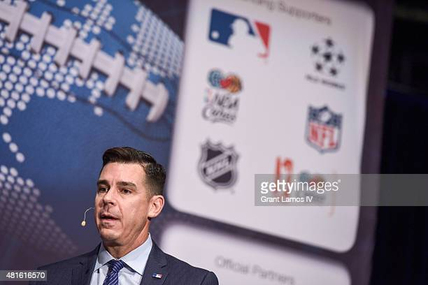 Billy Bean Ambassador for Inclusion MLB attends Beyond Sport United 2015 on July 22 2015 in Newark City