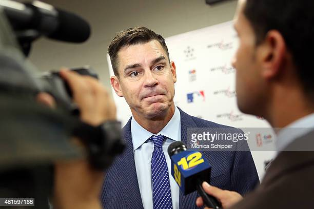 Billy Bean Ambassador for Inclusion MLB speaks with press at the Beyond Sport United 2015 event on July 22 2015 in Newark City