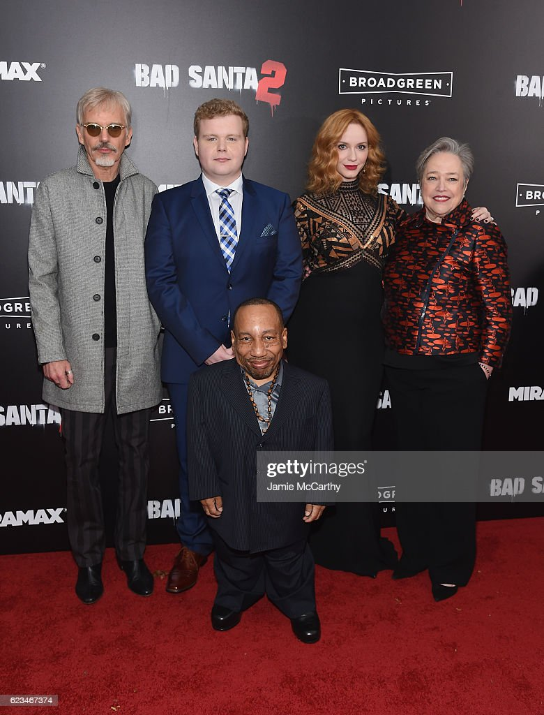 Billy Bob Thornton, Brett Kelly, Tony Cox, Christina Hendricks and Kathy Bates attend the 'Bad Santa 2' New York Premiere at AMC Loews Lincoln Square 13 theater on November 15, 2016 in New York City.