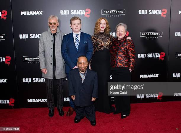 Billy Bob Thornton Brett Kelly Tony Cox Christina Hendricks and Kathy Bates attend the 'Bad Santa 2' New York premiere at AMC Loews Lincoln Square 13...