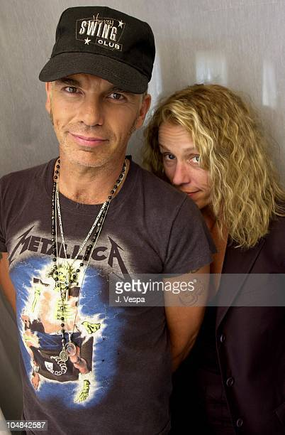 Billy Bob Thornton Frances McDormand during Cannes 2001 The Man Who Wasn't There Portrait Shoot at Carlton La Cote in Cannes France