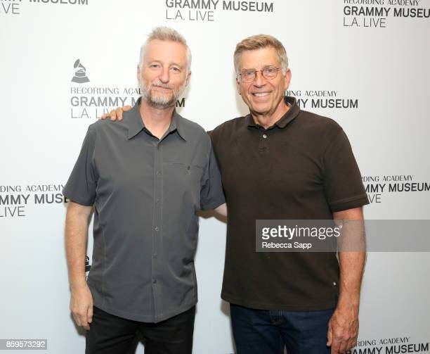 Billy Bragg and Founding Executive Director of the GRAMMY Museum Bob Santelli attend Roots Radicals and Rockers How Skiffle Changed the World With...