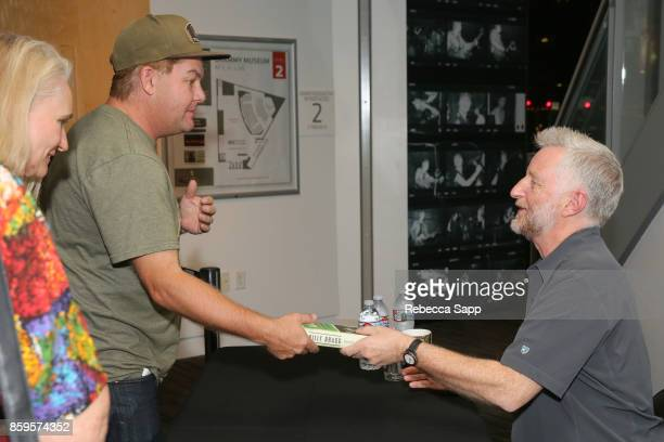 Billy Bragg spigns for fans at Roots Radicals and Rockers How Skiffle Changed the World With Billy Bragg at The GRAMMY Museum on October 9 2017 in...