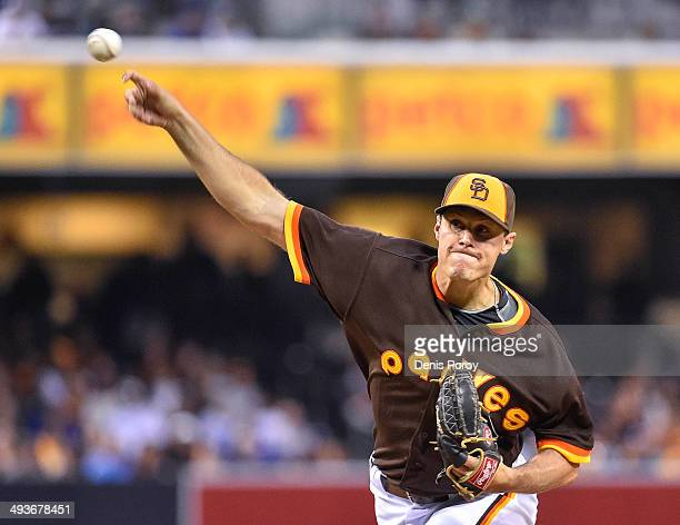 Billy Buckner of the San Diego Padres pitches during the second inning of a baseball game against the Chicago Cubs at Petco Park May 24 2014 in San...