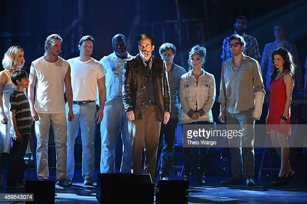 Billy Burke and cast perform during 'Ghost Brothers of Darkland County' Muscial New York NY at Beacon Theatre on November 24 2014 in New York City