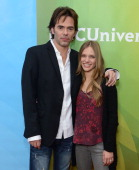 Billy Burke and Tracy Spiridakos attend NBCUniversal's '2013 Winter TCA Tour' Day 1 at Langham Hotel on January 6 2013 in Pasadena California