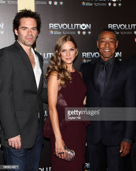Billy Burke Tracy Spiridakos and Giancarlo Esposito attend 'Revolution The Power Of Entertainment' at United Nations Headquarters on September 17...