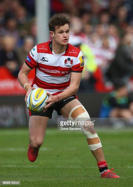Billy Burns of Gloucester Rugby in action during the Aviva Premiership match between Gloucester Rugby and Sale Sharks at Kingsholm Stadium on April...