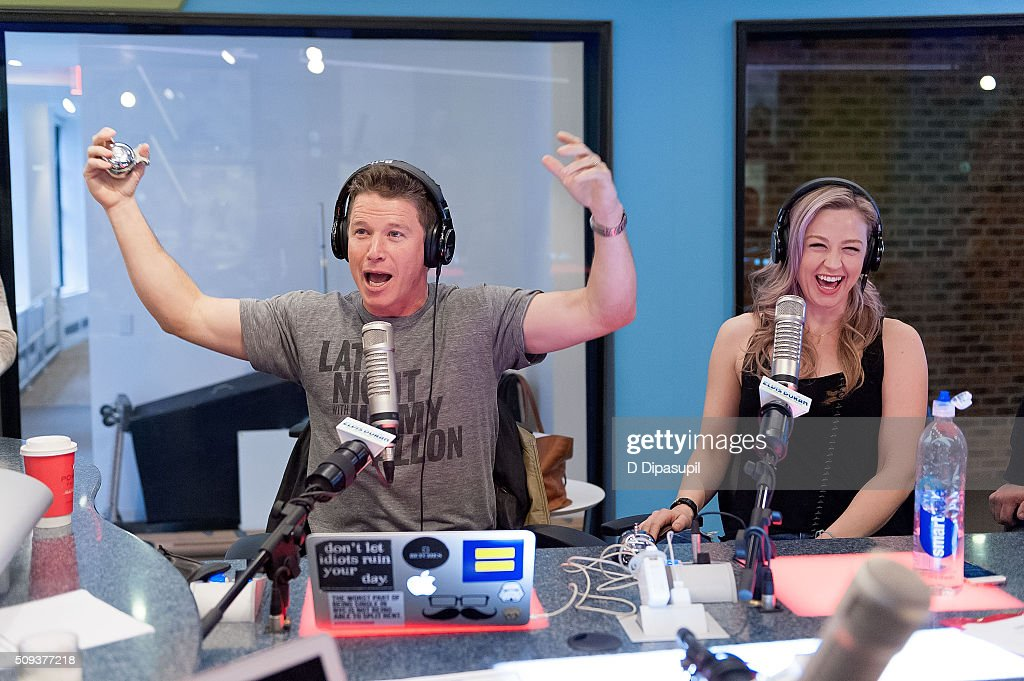 <a gi-track='captionPersonalityLinkClicked' href=/galleries/search?phrase=Billy+Bush&family=editorial&specificpeople=742677 ng-click='$event.stopPropagation()'>Billy Bush</a> (L) and Bethany Watson at 'The Elvis Duran Z100 Morning Show' at Z100 Studio on February 10, 2016 in New York City.