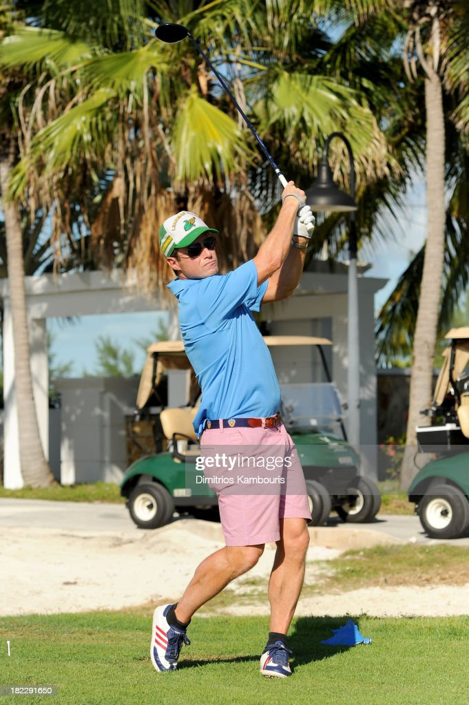 <a gi-track='captionPersonalityLinkClicked' href=/galleries/search?phrase=Billy+Bush&family=editorial&specificpeople=742677 ng-click='$event.stopPropagation()'>Billy Bush</a> attends the Golf Clinic with Greg Norman and Golf Tournament during Day Three of the Sandals Emerald Bay Celebrity Getaway And Golf Weekend on September 29, 2013 at Sandals Emerald Bay in Great Exuma, Bahamas.