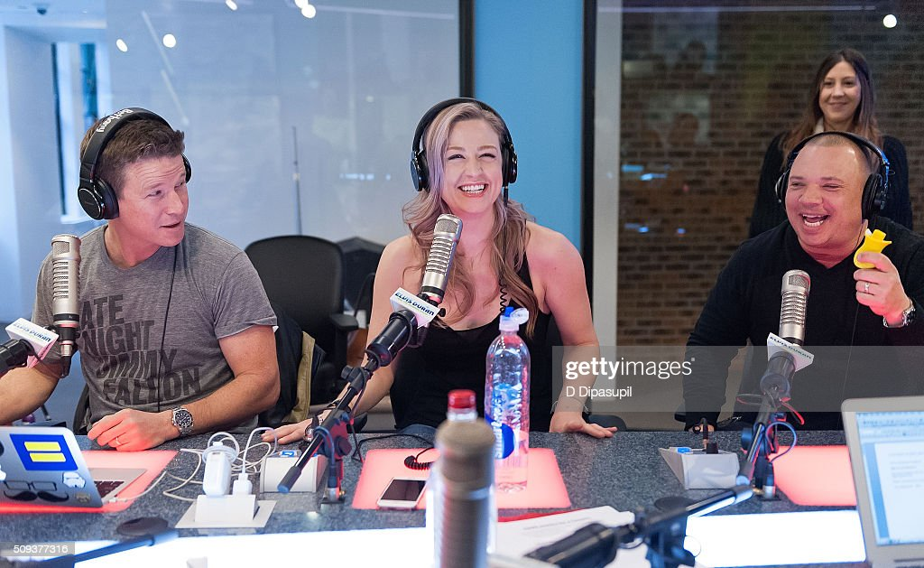 <a gi-track='captionPersonalityLinkClicked' href=/galleries/search?phrase=Billy+Bush&family=editorial&specificpeople=742677 ng-click='$event.stopPropagation()'>Billy Bush</a>, Bethany Watson, and Greg T at 'The Elvis Duran Z100 Morning Show' at Z100 Studio on February 10, 2016 in New York City.