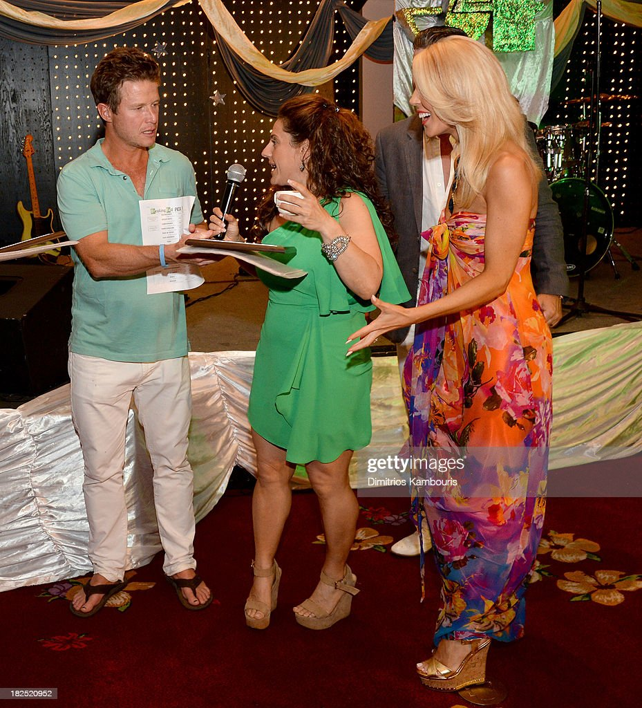 Billy Bush, Marissa Jaret Winokur, and Gretchen Rossi attend the Gala Dinner and Awards during Day Three of the Sandals Emerald Bay Celebrity Getaway and Golf Weekend on September 29, 2013 at Sandals Emerald Bay in Great Exuma, Bahamas.