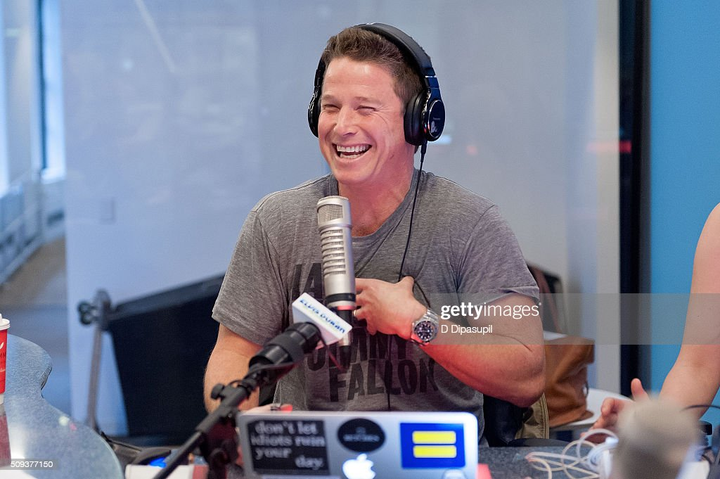 Billy Bush visits 'The Elvis Duran Z100 Morning Show' at Z100 Studio on February 10, 2016 in New York City.