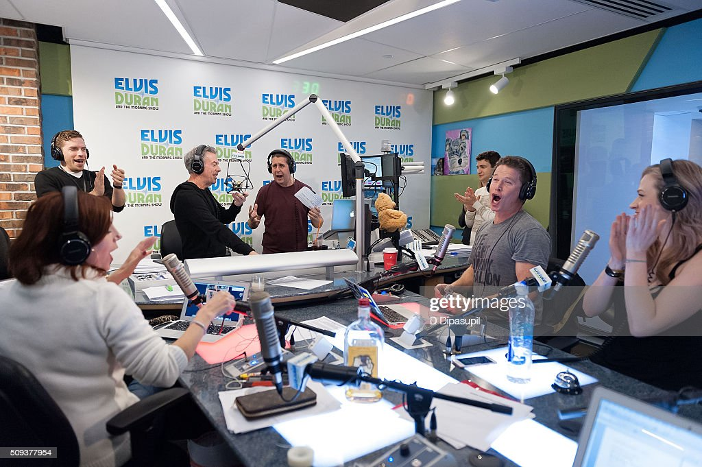 <a gi-track='captionPersonalityLinkClicked' href=/galleries/search?phrase=Billy+Bush&family=editorial&specificpeople=742677 ng-click='$event.stopPropagation()'>Billy Bush</a> (2nd R) visits 'The Elvis Duran Z100 Morning Show' at Z100 Studio on February 10, 2016 in New York City.
