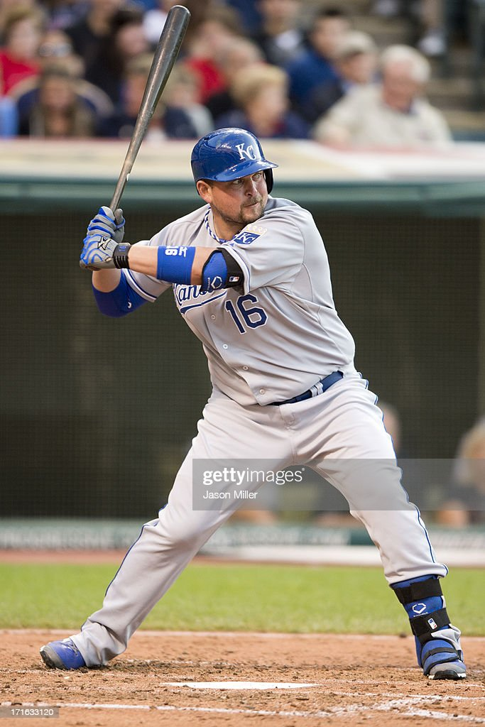 <a gi-track='captionPersonalityLinkClicked' href=/galleries/search?phrase=Billy+Butler&family=editorial&specificpeople=759092 ng-click='$event.stopPropagation()'>Billy Butler</a> #16 of the Kansas City Royals at bat during the fifth inning against the Cleveland Indians at Progressive Field on June 19, 2013 in Cleveland, Ohio.