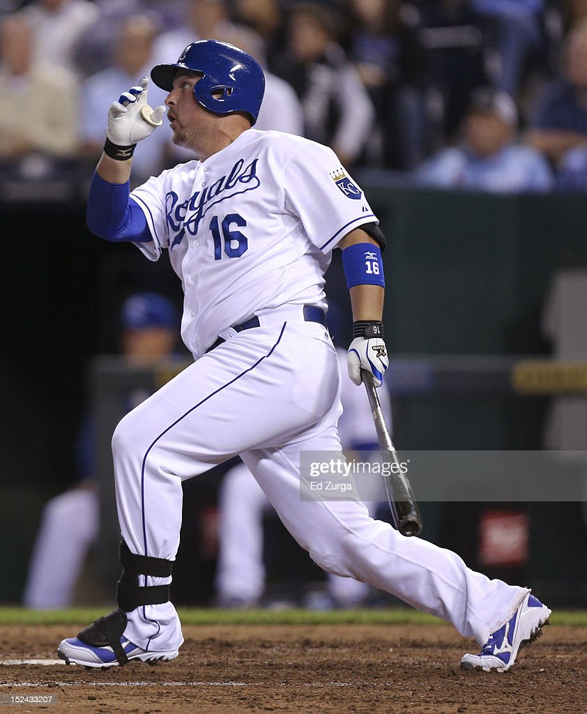 <a gi-track='captionPersonalityLinkClicked' href=/galleries/search?phrase=Billy+Butler&family=editorial&specificpeople=759092 ng-click='$event.stopPropagation()'>Billy Butler</a> #16 of the Kansas City Royals hits a RBI double against the Chicago White Sox in the sixth inning at Kauffman Stadium on September 20, 2012 in Kansas City, Missouri.