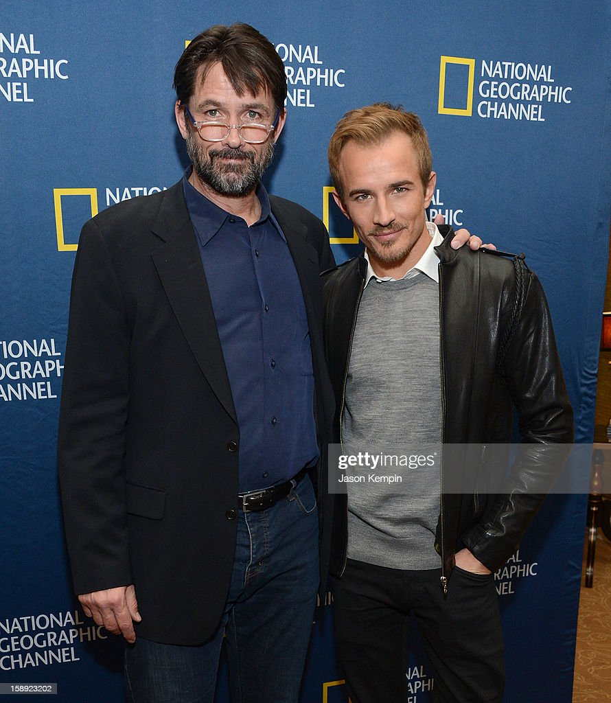 Billy Campbell and Jesse Johnson attend the National Geographic Channels' '2013 Winter TCA' Cocktail Party at the Langham Huntington Hotel on January 3, 2013 in Pasadena, California.