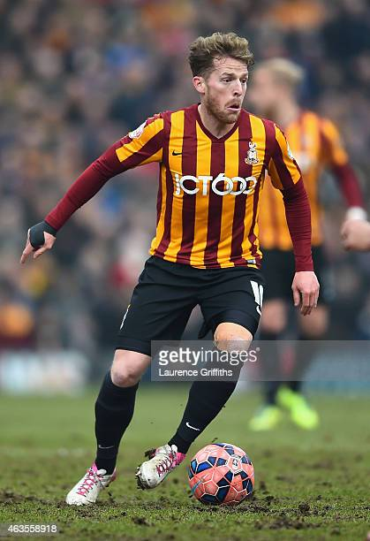 Billy Clarke of Bradford City in action during the FA Cup Fifth Round match between Bradford City and Sunderland at Coral Windows Stadium Valley...