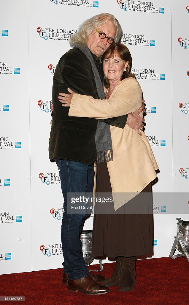 <a gi-track='captionPersonalityLinkClicked' href=/galleries/search?phrase=Billy+Connolly&family=editorial&specificpeople=208248 ng-click='$event.stopPropagation()'>Billy Connolly</a> and Pauline Collins attend the Photocall for 'Quartet' at the BFI London Film Festival at Empire Leicester Square on October 15, 2012 in London, England.