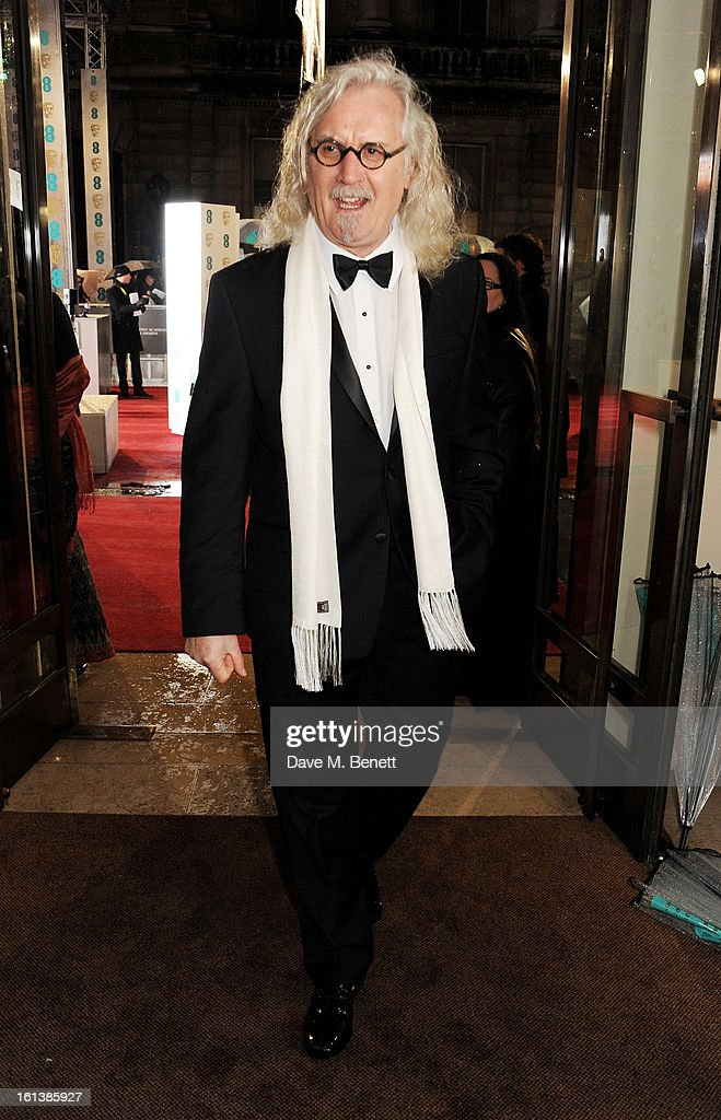 <a gi-track='captionPersonalityLinkClicked' href=/galleries/search?phrase=Billy+Connolly&family=editorial&specificpeople=208248 ng-click='$event.stopPropagation()'>Billy Connolly</a> arrives at the EE British Academy Film Awards at the Royal Opera House on February 10, 2013 in London, England.