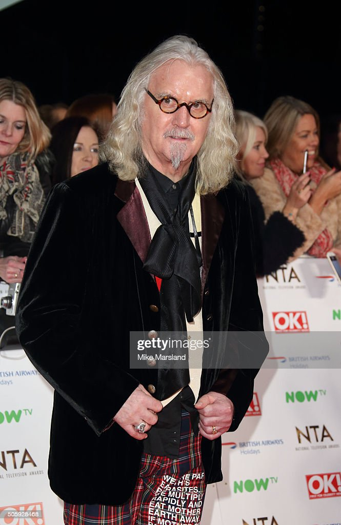 <a gi-track='captionPersonalityLinkClicked' href=/galleries/search?phrase=Billy+Connolly&family=editorial&specificpeople=208248 ng-click='$event.stopPropagation()'>Billy Connolly</a> attends the 21st National Television Awards at The O2 Arena on January 20, 2016 in London, England.