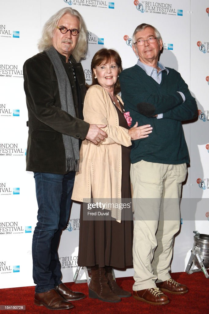 <a gi-track='captionPersonalityLinkClicked' href=/galleries/search?phrase=Billy+Connolly&family=editorial&specificpeople=208248 ng-click='$event.stopPropagation()'>Billy Connolly</a>, Pauline Collins and Tom Courtney attend the Photocall for 'Quartet' at the BFI London Film Festival at Empire Leicester Square on October 15, 2012 in London, England.