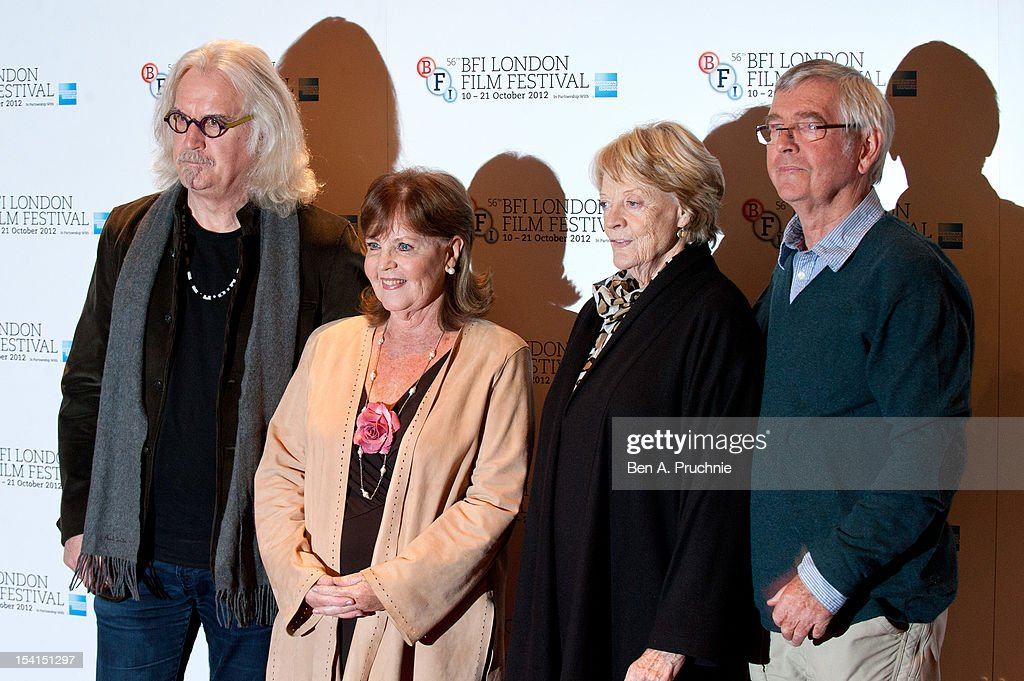 <a gi-track='captionPersonalityLinkClicked' href=/galleries/search?phrase=Billy+Connolly&family=editorial&specificpeople=208248 ng-click='$event.stopPropagation()'>Billy Connolly</a>, Pauline Collins, <a gi-track='captionPersonalityLinkClicked' href=/galleries/search?phrase=Maggie+Smith&family=editorial&specificpeople=206821 ng-click='$event.stopPropagation()'>Maggie Smith</a> and <a gi-track='captionPersonalityLinkClicked' href=/galleries/search?phrase=Tom+Courtenay&family=editorial&specificpeople=699230 ng-click='$event.stopPropagation()'>Tom Courtenay</a> attends the Photocall for 'Quartet' at the BFI London Film Festival at Empire Leicester Square on October 15, 2012 in London, England.