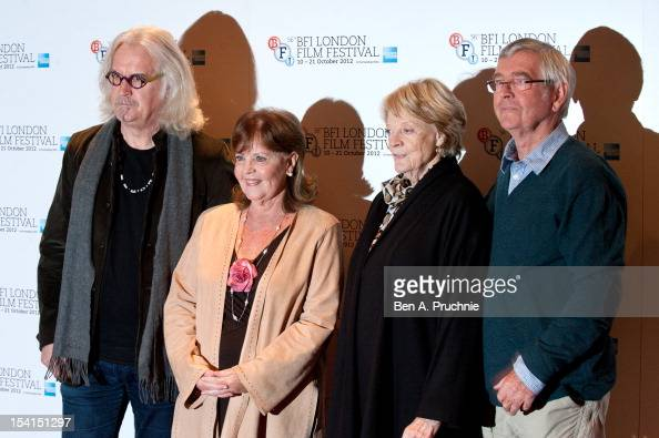 Billy Connolly Pauline Collins Maggie Smith and Tom Courtenay attends the Photocall for 'Quartet' at the BFI London Film Festival at Empire Leicester...