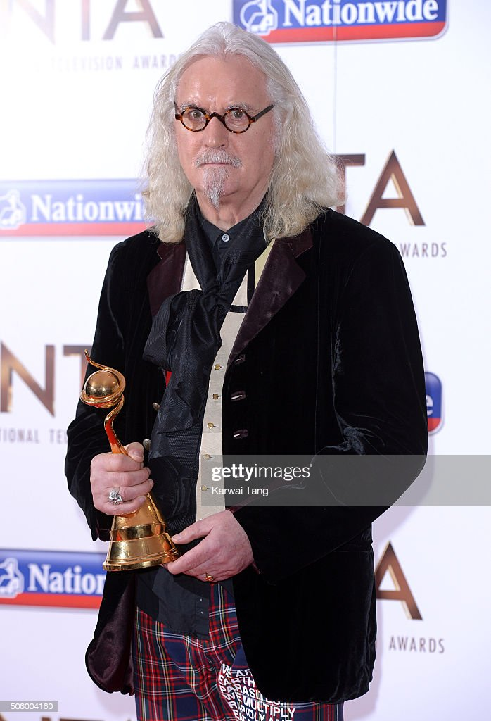 <a gi-track='captionPersonalityLinkClicked' href=/galleries/search?phrase=Billy+Connolly&family=editorial&specificpeople=208248 ng-click='$event.stopPropagation()'>Billy Connolly</a> poses with his Special Recognition Award at the 21st National Television Awards at The O2 Arena on January 20, 2016 in London, England.