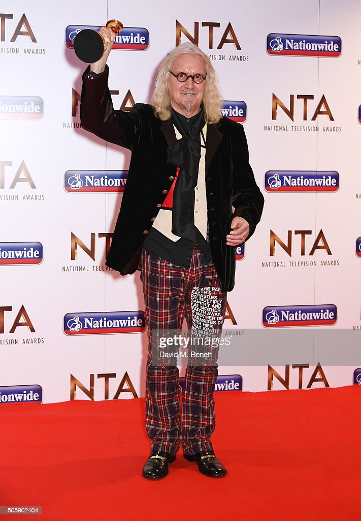 <a gi-track='captionPersonalityLinkClicked' href=/galleries/search?phrase=Billy+Connolly&family=editorial&specificpeople=208248 ng-click='$event.stopPropagation()'>Billy Connolly</a>, winner of the Special Recognition award, poses in the winner's room at the 21st National Television Awards at The O2 Arena on January 20, 2016 in London, England.