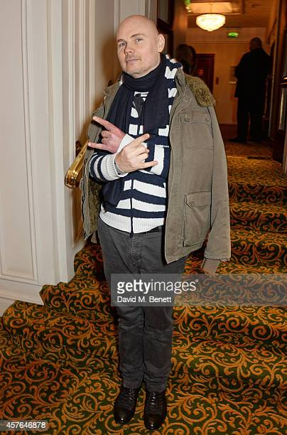 Billy Corgan arrives at the Xperia Access Q Awards at The Grosvenor House Hotel on October 22 2014 in London England