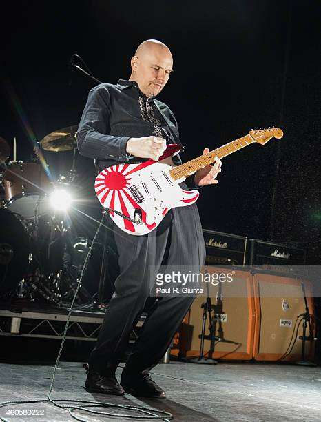 Billy Corgan of Smashing Pumpkins performs on stage at The Fonda Theatre on December 16 2014 in Los Angeles California
