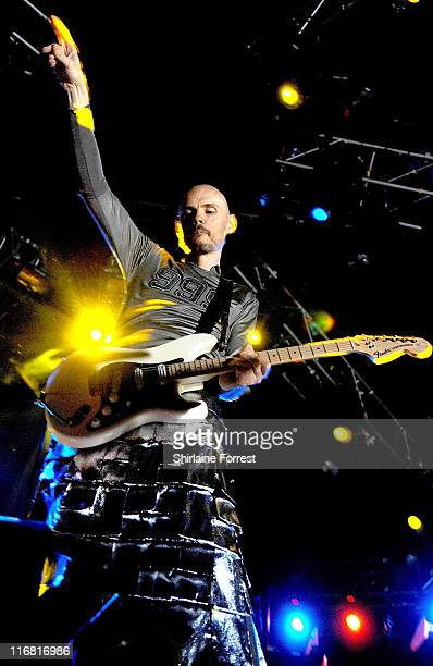 Billy Corgan of The Smashing Pumpkins performs at Manchester Evening News Arena on February 15 2008 in Manchester England