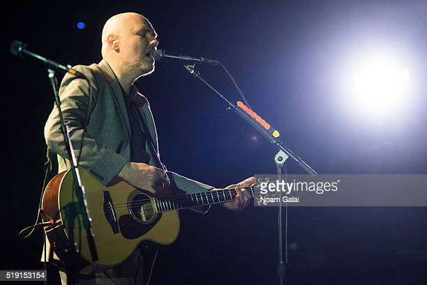 Billy Corgan of The Smashing Pumpkins performs in concert at The Beacon Theatre on April 4 2016 in New York City
