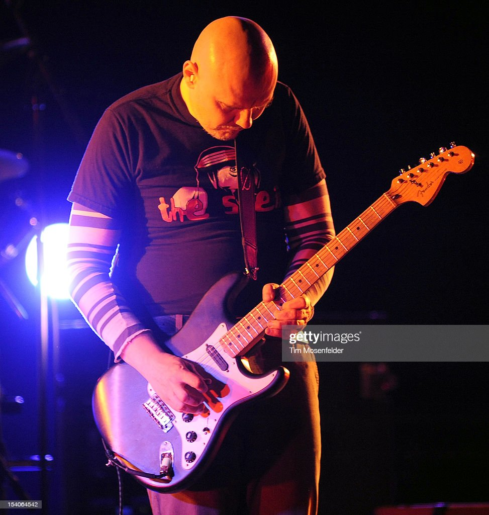 <a gi-track='captionPersonalityLinkClicked' href=/galleries/search?phrase=Billy+Corgan&family=editorial&specificpeople=210832 ng-click='$event.stopPropagation()'>Billy Corgan</a> of The Smashing Pumpkins performs in support of the bands' Oceana release at the Bill Graham Civic Auditorium on October 12, 2012 in San Francisco, California.