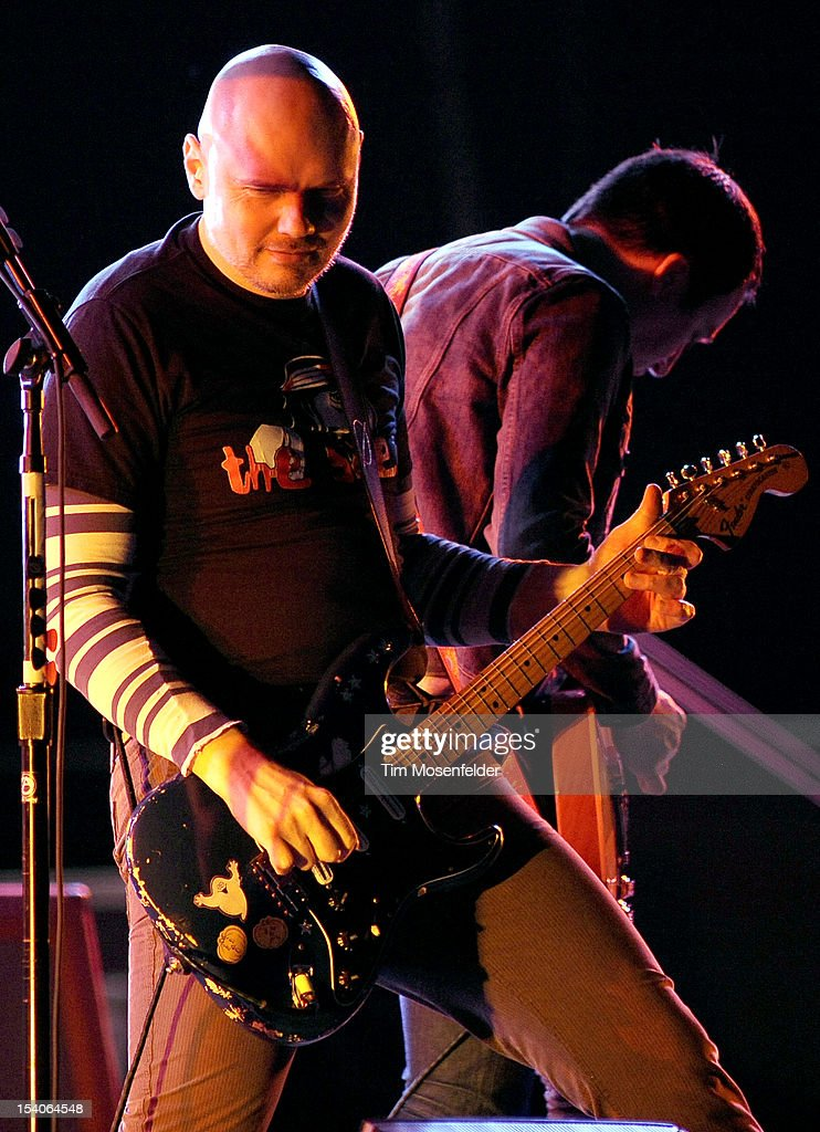 Billy Corgan of The Smashing Pumpkins performs in support of the bands' Oceana release at the Bill Graham Civic Auditorium on October 12, 2012 in San Francisco, California.